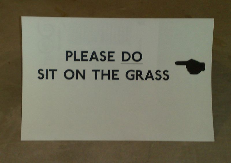 SOD off - sit on grass