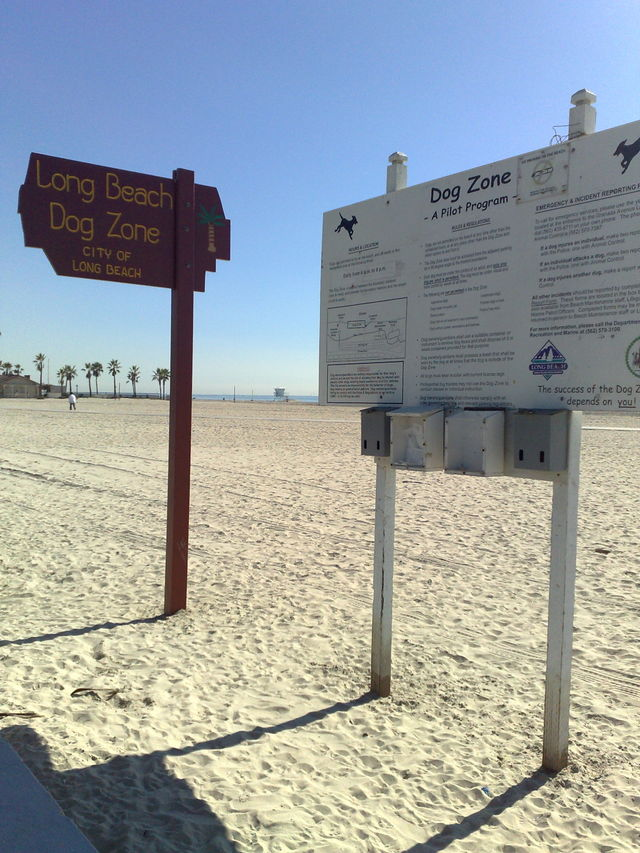 Long Beach Dog Zone Signs