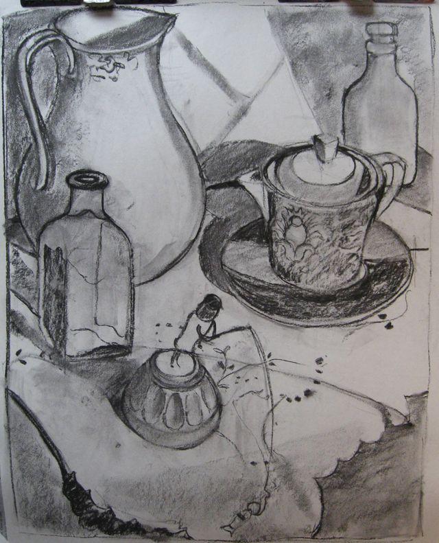 Red Tea Cup - Sketch